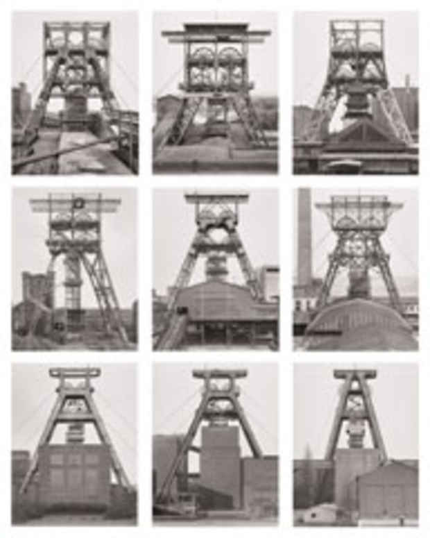 "poster for Bernd and Hilla Becher ""Landscape/Typology"""