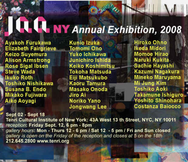 poster for JAANY Annual Exhibition