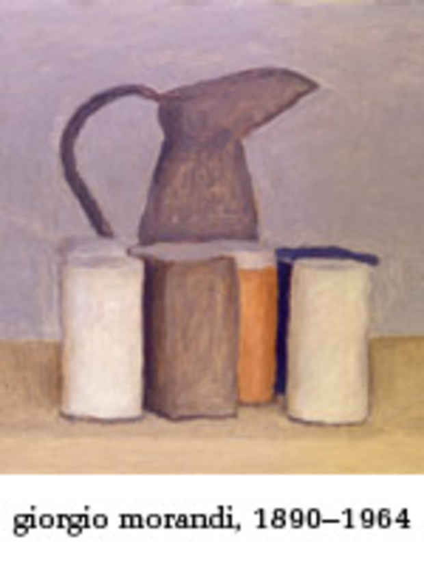 "poster for ""Giorgio Morandi, 1890–1964"" Exhibition"