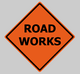 "poster for ""Road Works"" Exhibition"