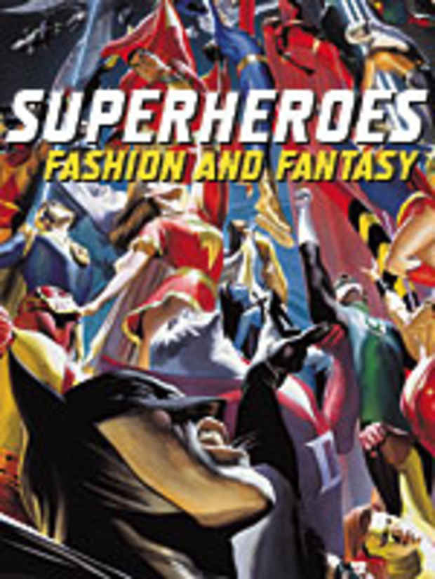 "poster for ""Superheroes: Fashion and Fantasy"" Exhibition"