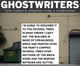 "poster for Tyler Coburn and Sebastian Craig ""Ghostwriters"""