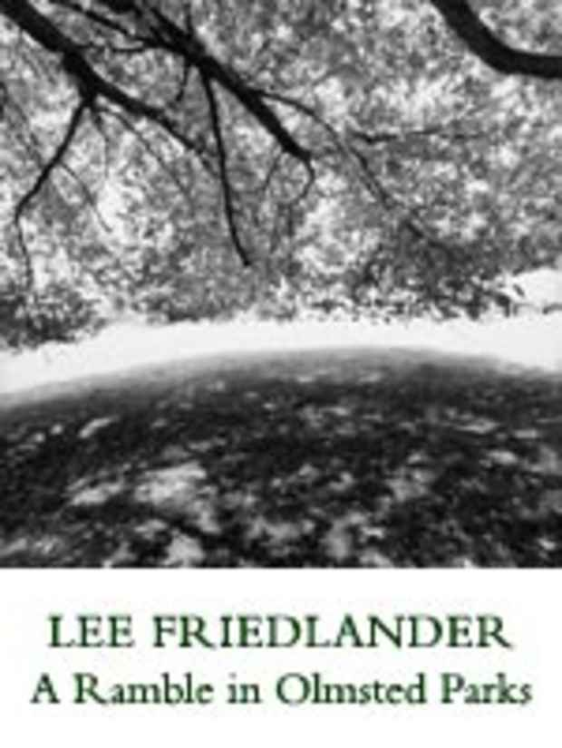 "poster for Lee Friedlander ""A Ramble in Olmsted Parks"""