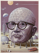 "poster for Buckminster Fuller ""Starting with the Universe"""