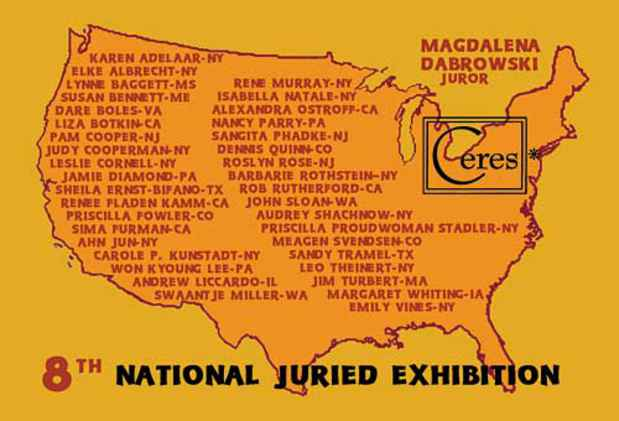 "poster for ""Eight National Juried"" Exhibition"