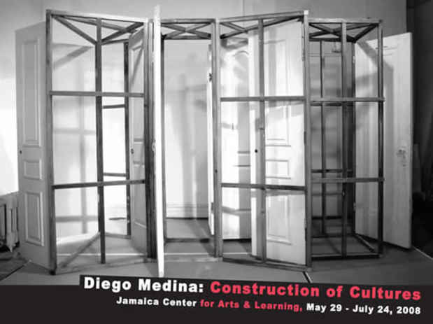 "poster for Diego Medina ""Construction of Cultures """