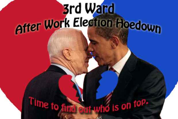 "poster for ""After Work Election Hoedown"" Party"
