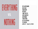 "poster for ""Everything vs. Nothing"" Exhibition"