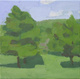 "poster for John Dubrow ""Small Landscapes: Upstate and Umbria"""