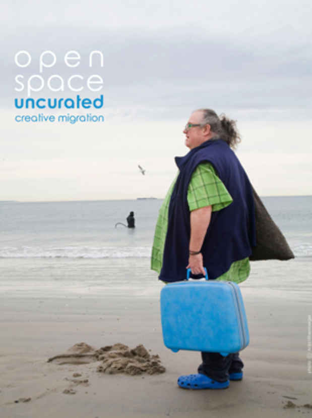 "poster for ""Open Space Uncurated: Creative Migration"" Exhibition"