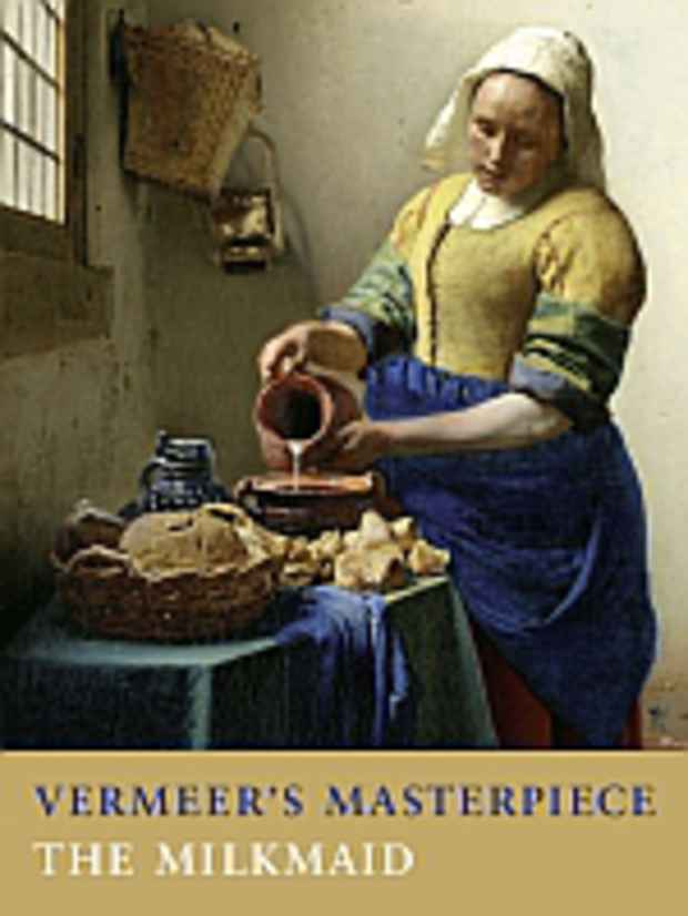 "poster for ""Vermeer's Masterpiece The Milkmaid"" Exhibition"