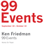 "poster for Ken Friedman ""99 Events"""