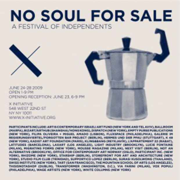 "poster for ""No Soul For Sale: A Festival Of Independents"" Exhibition"