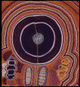 "poster for ""Icons of the Desert: Early Aboriginal Paintings from Papunya"" Exhibition"