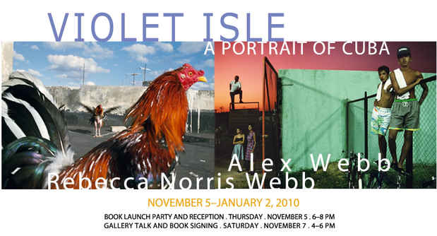 "poster for ""Violet Isle: Portraits of Cuba"" Exhibtion"