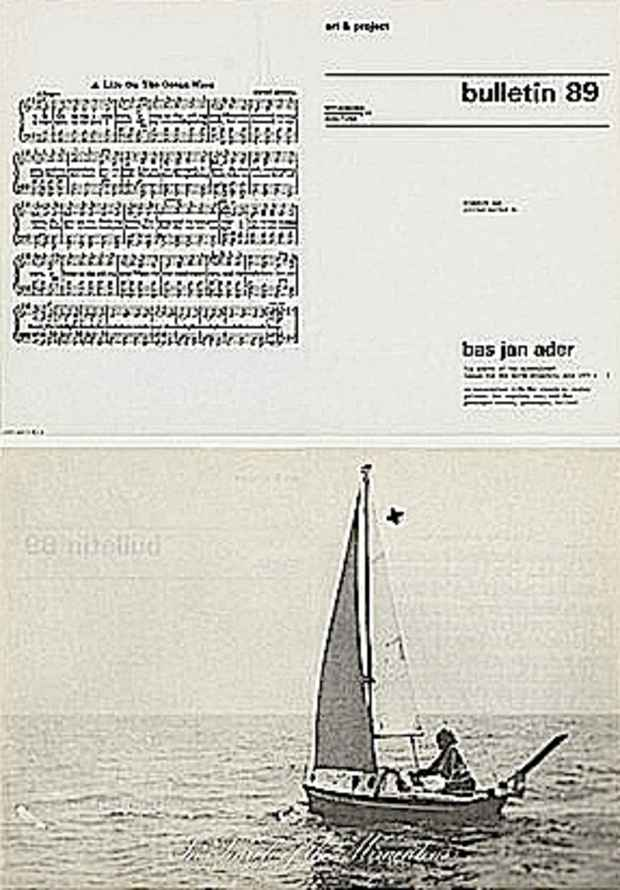 "poster for ""In & Out of Amsterdam: Art & Project Bulletin, 1968–1989"" Exhibition"