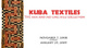 "poster for ""Kuba Textile"" Exhibition"