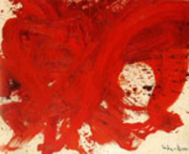 "poster for Kazuo Shiraga ""Six Decades"""