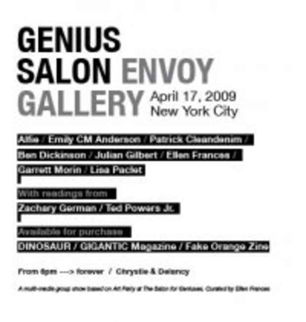 "poster for ""Genius Salon"" Exhibition"