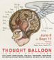 "poster for ""Thought Balloon: comics and ideas"" Exhibition"
