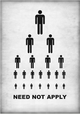"poster for ""Need Not Apply"" Exhibition"