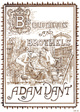 "poster for Adam Dant ""Bibliotheques and Brothels"""