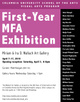 "poster for ""Columbia University School of the Arts 2010 First-year MFA"" Exhibition"