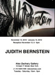 poster for Judith Bernstein Exhibition