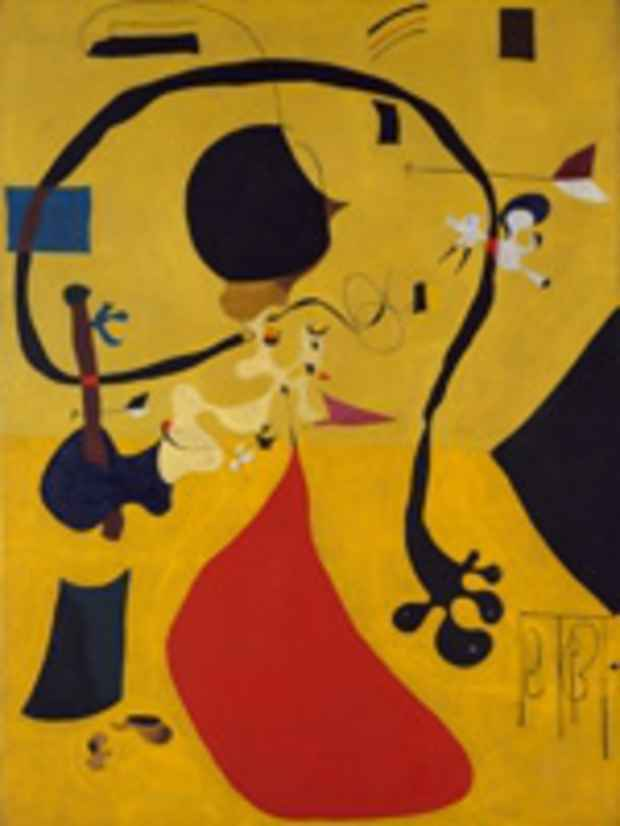 "poster for Joan Miró ""The Dutch Interiors"""