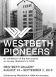 "poster for ""Westbeth Pioneers"" Exhibition"