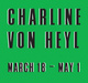 poster for Charline von Heyl Exhibition