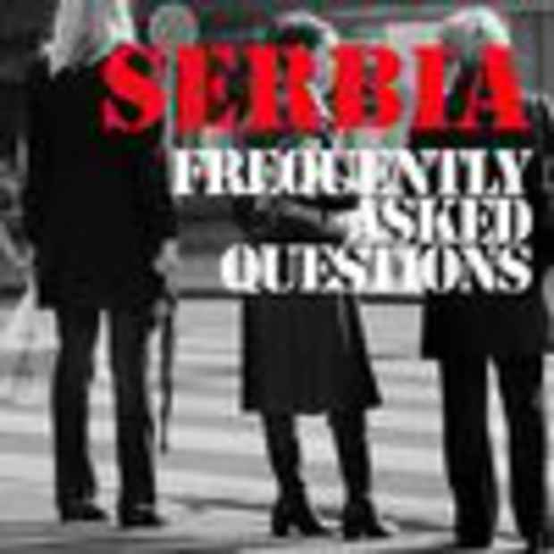 "poster for ""Serbia - Frequently Asked Question"" Exhibition"