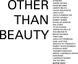 "poster for ""Other Than Beauty"" Exhibition"
