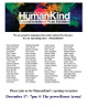 "poster for ""Human Kind"" A Juried Invitational Photo Exhibition"