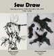 "poster for ""Sew Draw"" Exhibition"