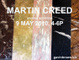 poster for Martin Creed Exhibition