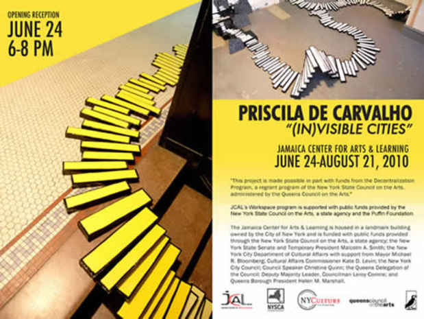 "poster for Priscila De Carvalho ""(In)visible Cities"""