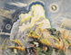 "poster for Charles Burchfield ""Fifty Years as a Painter"""