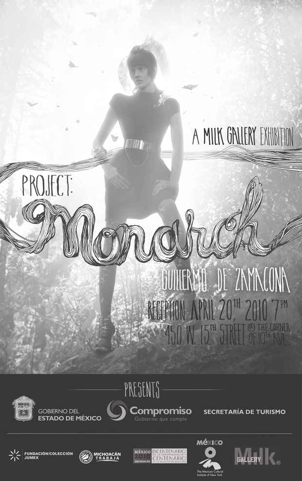 "poster for Guillermo de Zamacona ""PROJECT MONARCH"""