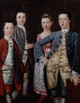 "poster for ""New York Painting Begins: Eighteenth-Century Portraits"" Exhibition"