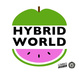 "poster for ""Hybrid World: The Evolving + Increasingly Overlapping Worlds of Illustration, Design & Technology"" Exhibition"