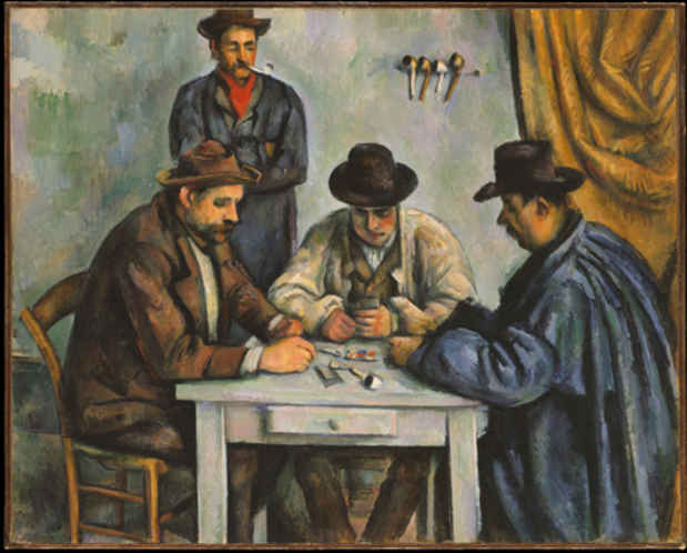 "poster for ""Cézanne's Card Players"" Exhibition"