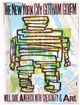 "poster for Bob and Roberta Smith ""The Art Party (Gotham Golem)"""