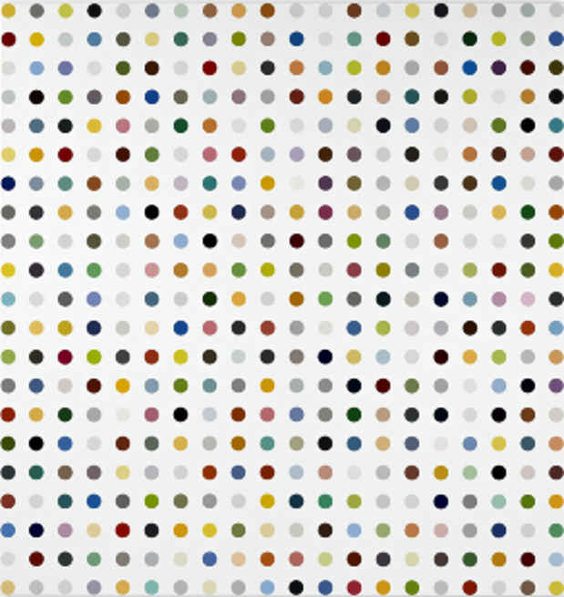 "poster for Damien Hirst ""The Complete Spot Paintings 1986-2011"""