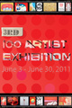 "poster for ""3rd 100 Artist Exhibition"""