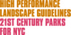 "poster for ""High Performance Landscape Guidelines: 21st Century Parks for NYC"" Exhibition"