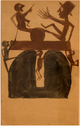 "poster for Bill Traylor ""A Master on Cardboard"""