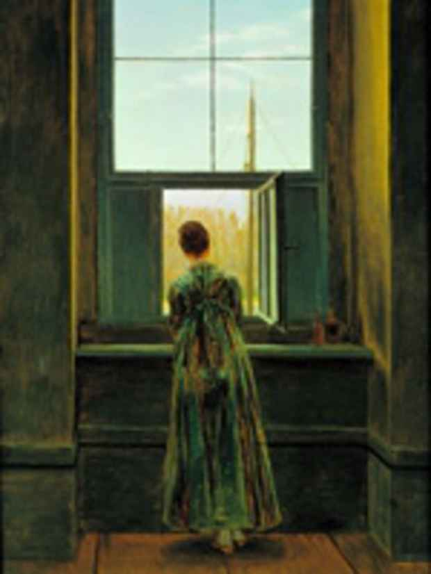 "poster for ""Rooms with a View: The Open Window in the 19th Century"" Exhibition"