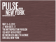 "poster for ""Pulse New York 2012"" Art Fair"