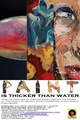"poster for ""Paint is Thicker than Water"" Exhibition"